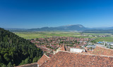 view of Rasnov from the castle ruins, Romania