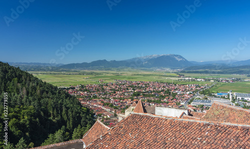 Poster view of Rasnov from the castle ruins, Romania