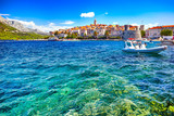 Seafront view at Korcula old town, historic island and travel european destination in Croatia - 222783999