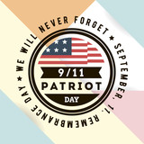 Patriot day vector typographic illustration - 222790312