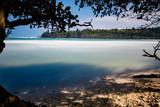 Hawaiian bay with sandy beach - 222800392