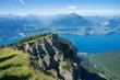 Blick vom Niederhorn auf den Thunersee, Schweiz