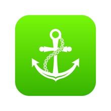 Anchor Icon Green     Sticker
