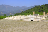 White marble three hole stone bridge in the Eastern Royal Tombs of the Qing Dynasty, china