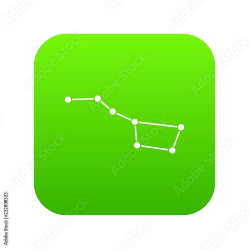 The Great Bear constellation icon digital green for any design isolated on white vector illustration