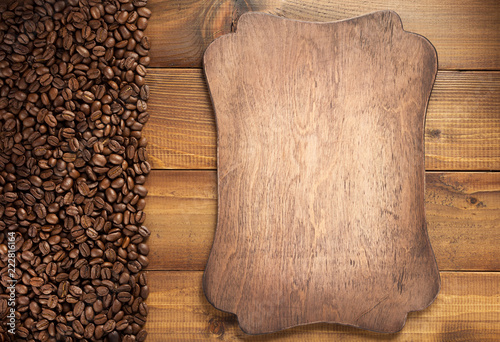 coffee concept beans and sign board - 222816164