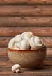 Fresh mushrooms bowl