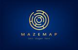 maze logo vector - 222844380