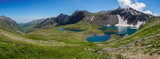 Panoramic view of mountain lakes