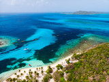 Top view of Tobago cays - 222852943