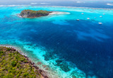 Top view of Tobago cays - 222852979