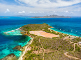 Top view of Caribbean island - 222853375