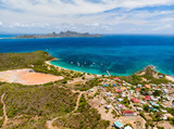 Top view of Caribbean island - 222853378