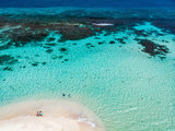 Top view of Caribbean island - 222853516