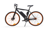 Black electric bike isolated with clipping path - 222853589