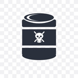 Toxic vector icon isolated on transparent background, Toxic logo design - 222868553