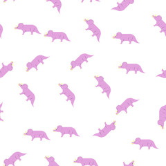 triceratops icon in pattern style. One of Dinosaurus collection icon can be used for UI, UX © anar17041981