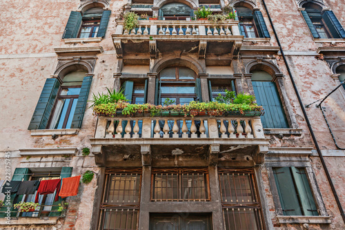 Venice buildings on the grand Canal - 222875745