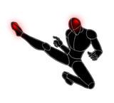 kick fighter illustration - 222884300