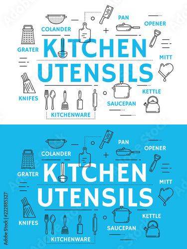 Kitchen utensil and cooking accessories