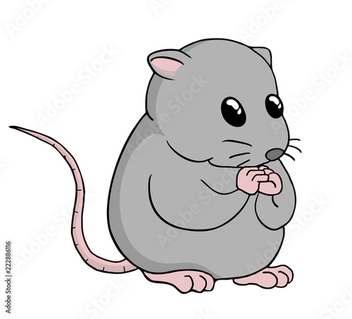 Funny rat illustration - 222886116