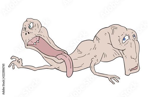 mutant monster illustration - 222886761