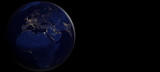 world focused on Europe with night lights. elements of this image furnished by NASA - 222891543