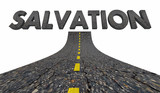 Salvation Saving Grace Savior Saved Road Word 3d Illustration - 222892356