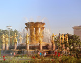 Photo of a macro golden fountain Friendship of peoples - 222900732