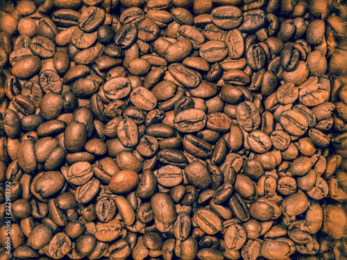 Retro style coffee beans, abstract background