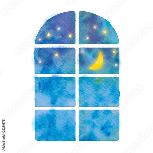 夜の窓のイラスト - 222905751