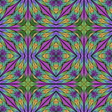 Multicolored floral pattern in stained-glass window style. You can use it for invitations, notebook covers, phone cases, postcards, cards, wallpapers and so on. Artwork for creative design. - 222916571