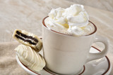Hot chocolate and gourmet cookies - 222916588