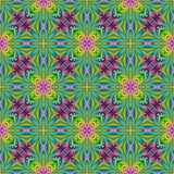 Beautiful seamless flower pattern in fractal design. Artwork for creative design, art and entertainment. - 222917372