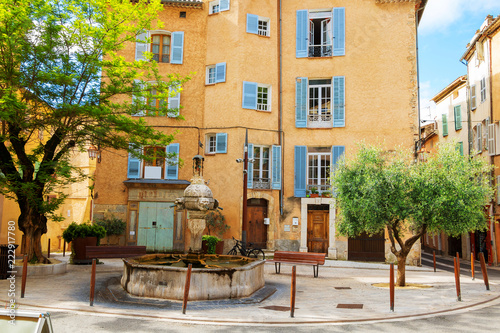 Medieval Village Cotignac Provence France, domestic housing - 222917780