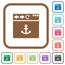 Browser Anchor Simple Icons Sticker