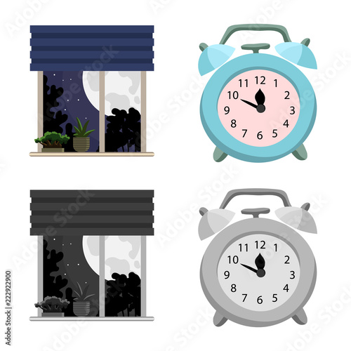 Vector illustration of dreams and night symbol. Collection of dreams and bedroom stock vector illustration. - 222922900