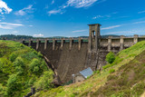 The dam at the Alwen Reservoir, Conwy, Wales, UK - 222931391