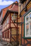 Quedlinburg Altstadt, Half Timbered, Latern, Street Lamp - 222935782