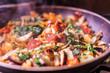 Vegetables in the pan. Vegetable stew. - 222938330