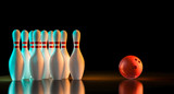 3d rendering of bowling stuff