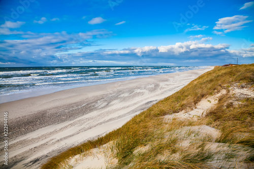 Foto Murales windy weather at the Baltic sea