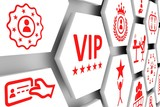VIP concept cell background 3d illustration