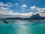Bora Bora island french polynesia lagoon aerial view - 222948120
