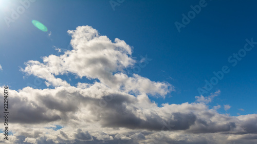 Clouds on blue sky. - 222948176