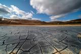 cracked desert in Iceland - 222948376
