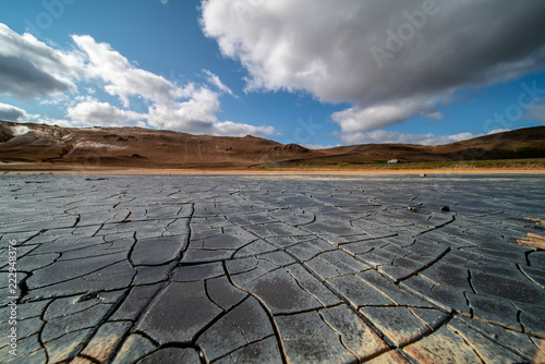 cracked desert in Iceland