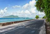 The road along the ocean, Mahe, Seychelles. - 222950996
