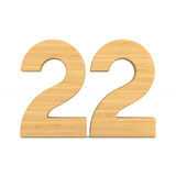 Number twenty two on white background. Isolated 3D illustration - 222956372