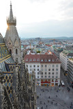 View on Vienna old town from Stephansdom Cathedral - 222961125